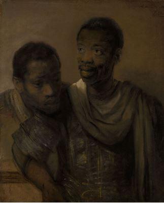 Show İki Afrikalı, 1661, Tuval üzerine yağlıboya, 77.8 x 64.4 cm, Mauritshuis, The Hague, Hollanda. details