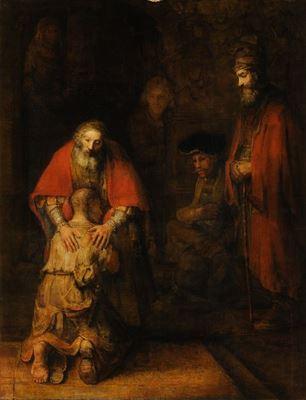 Show Savurgan Oğlun Dönüşü, 1668 dolayları, Tuval üzerine yağlıboya, 262 x 205 cm, Hermitage Museum, St. Petersburg, Rusya. details