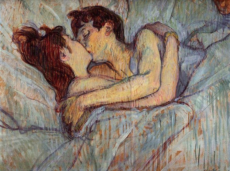 Henri de Toulouse-Lautrec, Yatakta Öpücük, 1892 picture