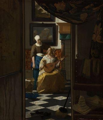 Show Aşk Mektubu, 1669-1670 dolayları, Tuval üzerine yağlıboya, 44 x 38.5 cm, Rijksmuseum, Amsterdam, Hollanda. details