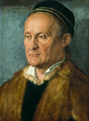 Show Jakob Muffel, 1526, Tuval üzerine yağlıboya, 48 x 36 cm, Staatliche Museen zu Berlin, Berlin, Almanya. details