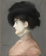 Show Irma Brunner, 1880 dolayları, Tuval üzerine pastel, 53.5 x 44.1 cm, Musée d'Orsay, Paris, Fransa. details