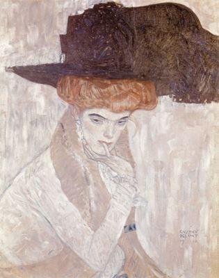 Show Siyah Tüylü Şapka, 1910, Tuval üzerine yağlıboya, 79 x 63 cm, Özel koleksiyon. details