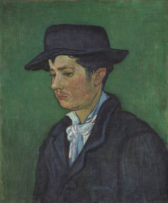 Show Armand Roulin'in Portresi, 1888, Tuval üzerine yağlıboya, 65.5 x 54.3 cm, Museum Boijmans Van Beuningen, Rotterdam, Hollanda. details