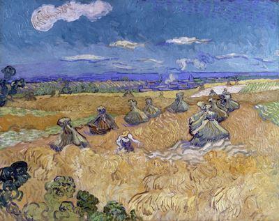 Show Orakçı ile Buğday Tarlası, 1890, Tuval üzerine yağlıboya, 73.6 x 93 cm, The Toledo Museum of Art, Toledo, ABD. details