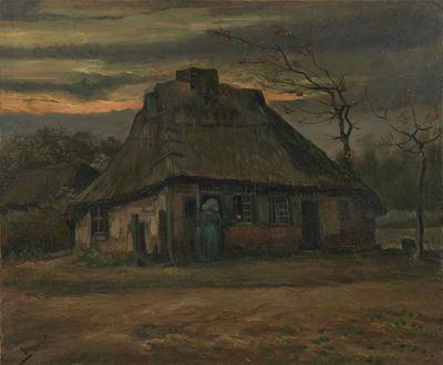 Show Kulübe, 1885, Tuval üzerine yağlıboya, 65.7 x 79.3 cm, Van Gogh Museum, Amsterdam, Hollanda. details