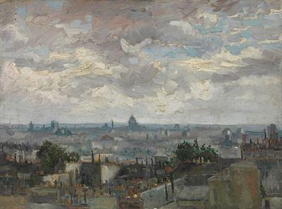 Show Paris Manzarası, 1886, Tuval üzerine yağlıboya, 53.9 x 72.8 cm, Van Gogh Museum, Amsterdam, Hollanda. details