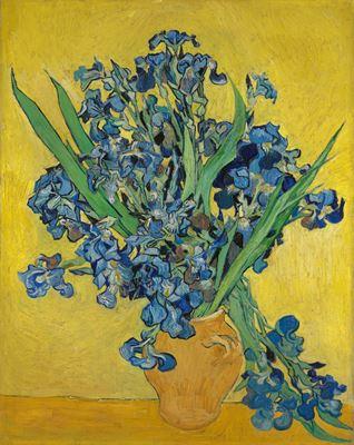 Show Süsenler, 1890, Tuval üzerine yağlıboya, 92.7 x 73.9 cm, Van Gogh Museum, Amsterdam, Hollanda. details