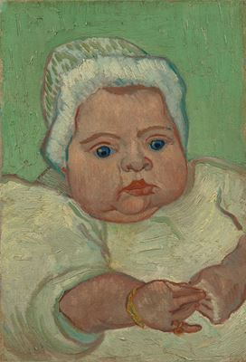 Show Marcelle Roulin'in Portresi, 1888, Tuval üzerine yağlıboya, 35.2 cm x 24.6 cm, Van Gogh Museum, Amsterdam, Hollanda. details