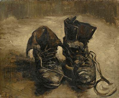 Show Ayakkabılar, 1886, Tuval üzerine yağlıboya, 38.1 x 43.3 cm, Van Gogh Museum, Amsterdam, Hollanda. details