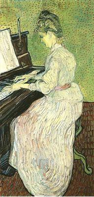 Show Marguerite Gachet Piyano Çalarken, 1890, Tuval üzerine yağlıboya, 102.5 x 50 cm, Kunstmuseum Basel, Basel, İsviçre. details