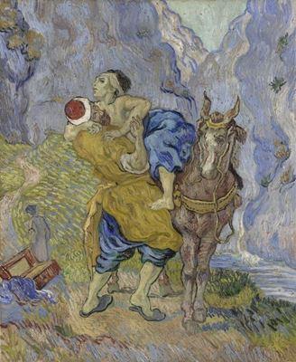 Show İyiliksever Samarralı (Delacroix'dan esinle), 1890, Tuval üzerine yağlıboya, 73 x 60 cm, Kröller-Müller Museum, Otterlo, Hollanda. details