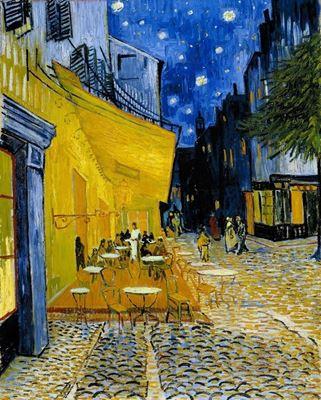 Show Café Terrace'ta Gece, 1888, Tuval üzerine yağlıboya, 81 x 65.5, Kröller-Müller Museum, Otterlo, Hollanda. details