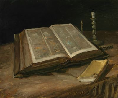 Show İncilli Natürmort, 1885, Tuval üzerine yağlıboya, 65.7 x 78.5 cm, Van Gogh Museum, Amsterdam, Hollanda. details