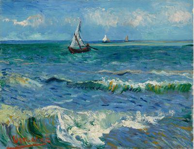 Show Saintes-Maries-de-la-Mer Yakınında Deniz Manzarası, 1888, Tuval üzerine yağlıboya, 50.5 x 64.3 cm, Van Gogh Museum, Amsterdam, Hollanda. details
