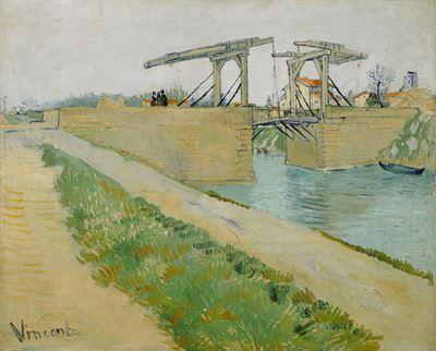 Show Langois Köprüsü, 1888, Tuval üzerine yağlıboya, 59.6 x 73.6 cm, Van Gogh Museum, Amsterdam, Hollanda. details