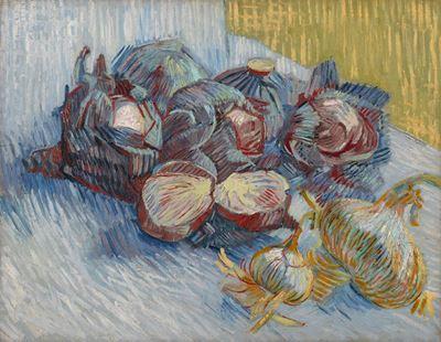 Show Kırmızı Lahanalı ve Soğanlı Natürmort, 1887, Tuval üzerine yağlıboya, 50 x 64.5 cm, Van Gogh Museum, Amsterdam, Hollanda. details