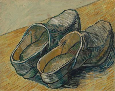 Show Bir Çift Deri Takunya, 1889, Tuval üzerine yağlıboya, 32.2 x 40.5 cm, Van Gogh Museum, Amsterdam, Hollanda. details