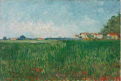 Show Gelincik Tarlası, 1888, Tuval üzerine yağlıboya, 24 x 35 cm, Van Gogh Museum, Amsterdam, Hollanda. details