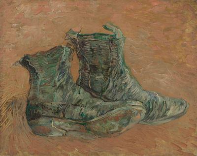 Show Ayakkabılar, 1887, Karton üzerine yağlıboya, 32.7 x 40.8 cm, Van Gogh Museum, Amsterdam, Hollanda. details