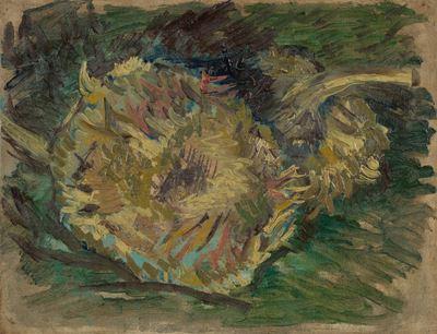 Show Ayçiçekleri, 1887, Tuval üzerine yağlıboya, 21.2 x 27.1 cm, Van Gogh Museum, Amsterdam, Hollanda. details