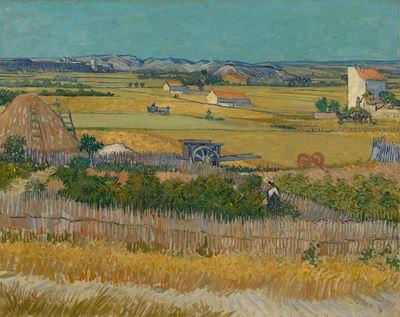 Show Hasat, 1888, Tuval üzerine yağlıboya, 73.4 x 91.8 cm, Van Gogh Museum, Amsterdam, Hollanda. details
