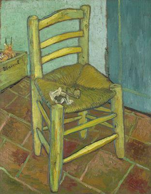 Show Van Gogh'un Sandalyesi, 1888, Tuval üzerine yağlıboya, 91.8 x 73 cm, The National Gallery, London, İngiltere. details