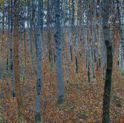 Show Kayın Ormanı I, 1902 dolayları, Tuval üzerine yağlıboya, 100 x 100 cm, Staatliche Kunstsammlungen, Dresden, Almanya. details