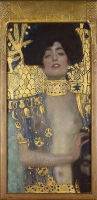 Show Judith I, 1901, Tuval üzerine yağlıboya, 84 x42 cm, Österreichische Galerie Belvedere, Vienna, Avusturya. details
