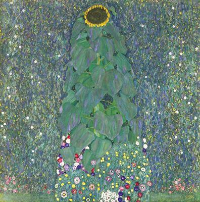 Show Ayçiçeği, 1907-1908, Tuval üzerine yağlıboya, 110 x 110 cm, Österreichische Galerie Belvedere, Vienna, Avusturya. details