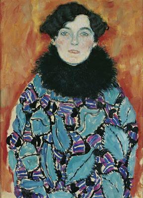 Show Johanna Staude'in Portresi, 1917-1918, Tuval üzerine yağlıboya, 70 x 50 cm, Österreichische Galerie Belvedere, Vienna, Avusturya. details