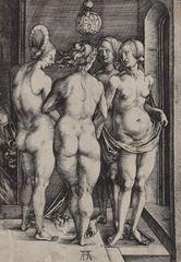Show Dört Cadı, 1497, Gravür, 19 x 13.1 cm, Museum of Fine Arts, Boston, ABD. details