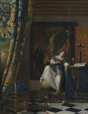 Show İnanç Alegorisi, 1670-1672 dolayları, Tuval üzerine yağlıboya, 114.3 x 88.9 cm, The Metropolitan Museum of Art, New York, ABD. details