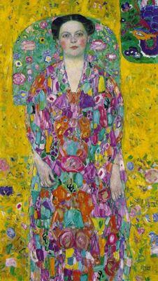 Show Eugenia Primavesi'nin Portresi, 1913-1914, Tuval üzerine yağlıboya, 140 x 84 cm, Özel koleksiyon. details
