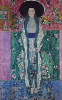 Show Adele Bloch-Bauer'in Portresi II, 1912, Tuval üzerine yağlıboya, 190 x 120 cm, Özel koleksiyon. details