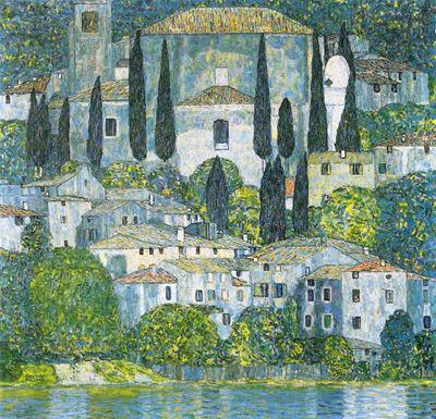 Show Cassone'deki Kilise (Selvili Manzara), 1913, Tuval üzerine yağlıboya, 110 x 110 cm, Özel koleksiyon. details