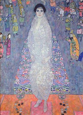 Show Barones Elisabeth Bachofen-Echt'in Portresi, 1914 dolayları, Tuval üzerine yağlıboya, 180 x 128 cm, Özel koleksiyon. details