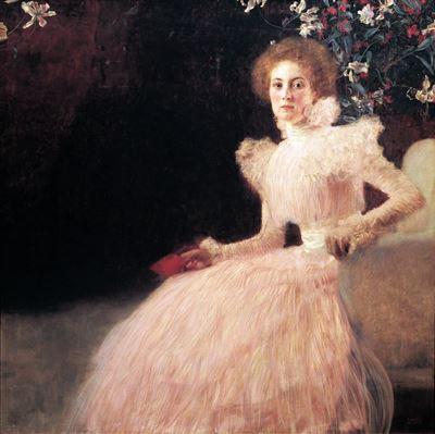 Show Sonja Knips, 1897-1898, Tuval üzerine yağlıboya, 145 x 146 cm, Österreichische Galerie Belvedere, Vienna, Avusturya. details