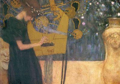 Show Müzik I, 1895, Tuval üzerine yağlıboya, 27.5 x 35.5 cm, Neue Pinakothek, Munich, Almanya. details