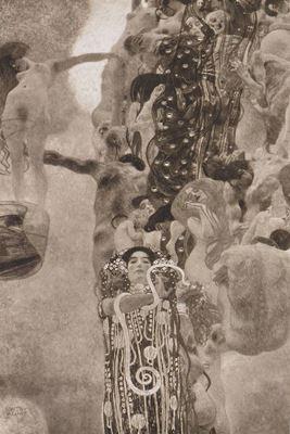 Show Tıp, 1903-1907, Tuval üzerine yağlıboya, 430 x 300 cm, 1945'te yangın sırasında yok olmuş. details