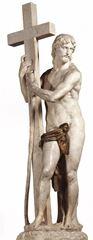 Show Çarmıhı Taşıyan İsa, 1519-1521 dolayları, Mermer, 205 cm, Santa Maria Sopra Minerva, Rome, İtalya. details