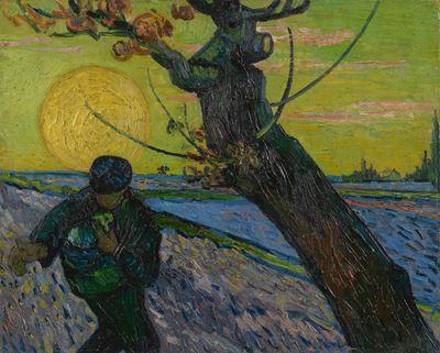 Show Tohum Serpen Adam, 1888, Tuval üzerine yağlıboya, 32.5 x 40.3 cm, Van Gogh Museum, Amsterdam, Hollanda. details