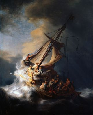 Show Galile Denizi'nde Fırtına, 1633, Tuval üzerine yağlıboya, 160 x 128 cm, Isabella Stewart Gardner Museum, Boston, ABD. details