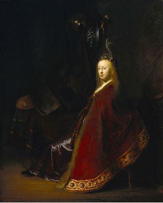 Show Minerva, 1631 dolayları, Panel üzerine yağlıboya, 60.7 x 49.3 cm, Staatliche Museen zu Berlin, Berlin, Almanya. details