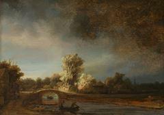 Show Taş Köprü, 1638 dolayları, Panel üzerine yağlıboya, 42.5 x 29.5 cm, Rijksmuseum, Amsterdam, Hollanda. details
