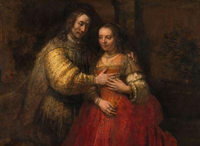 Show Yahudi Gelin, 1665-1669 dolayları, Tuval üzerine yağlıboya, 121.5 x 166.5 cm, Rijksmuseum, Amsterdam, Hollanda. details