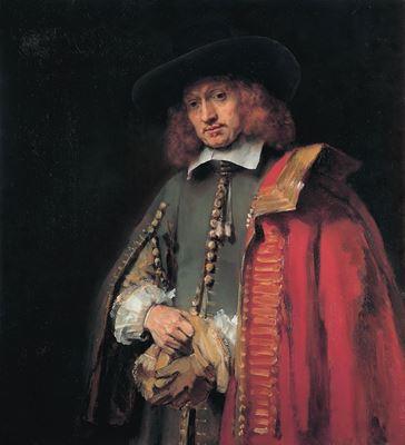 Show Jan Six'in Portresi, 1654, Tuval üzerine yağlıboya, 112 x 102 cm, Six Collection, Amsterdam, Hollanda. details