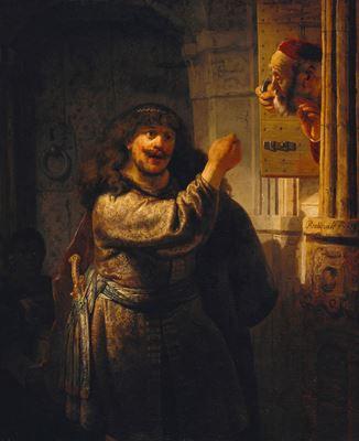 Show Samson Kayınpederini Tehdit Ederken, 1635, Tuval üzerine yağlıboya, 159.7 x 131.2 cm, Staatliche Museen zu Berlin, Berlin, Almanya. details