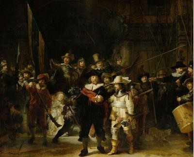Show Gece Nöbeti, 1642, Tuval üzerine yağlıboya, 379.5 x 453.5 cm, Rijksmuseum, Amsterdam, Hollanda. details