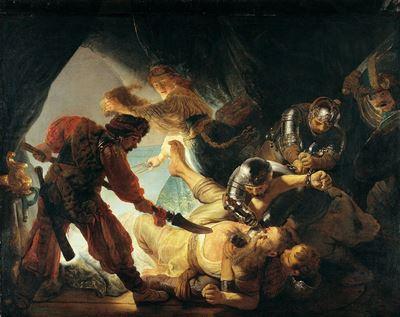 Show Samson'un Kör Edilmesi, 1636, Tuval üzerine yağlıboya, 206 x 276 cm, Städel Museum, Frankfurt, Almanya. details